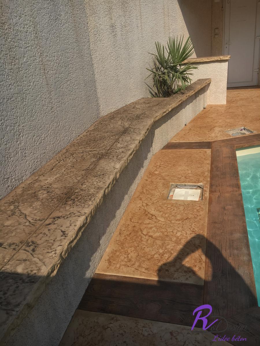 banc imitation pierre béton décoratif Lentilly 69210 design old granit