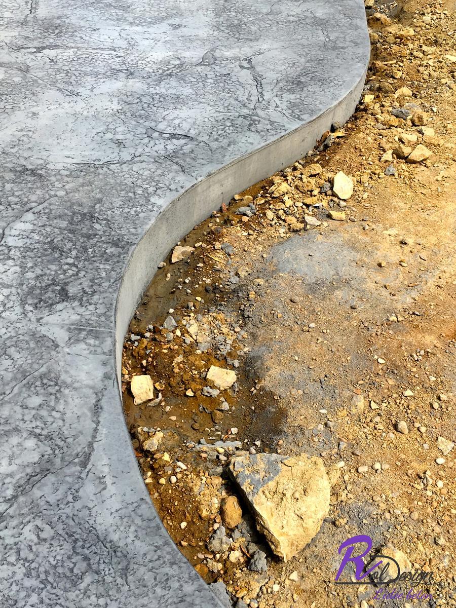 bord de terrasse 01500 empreinte imprimée béton à Douvres décoratif ROL design