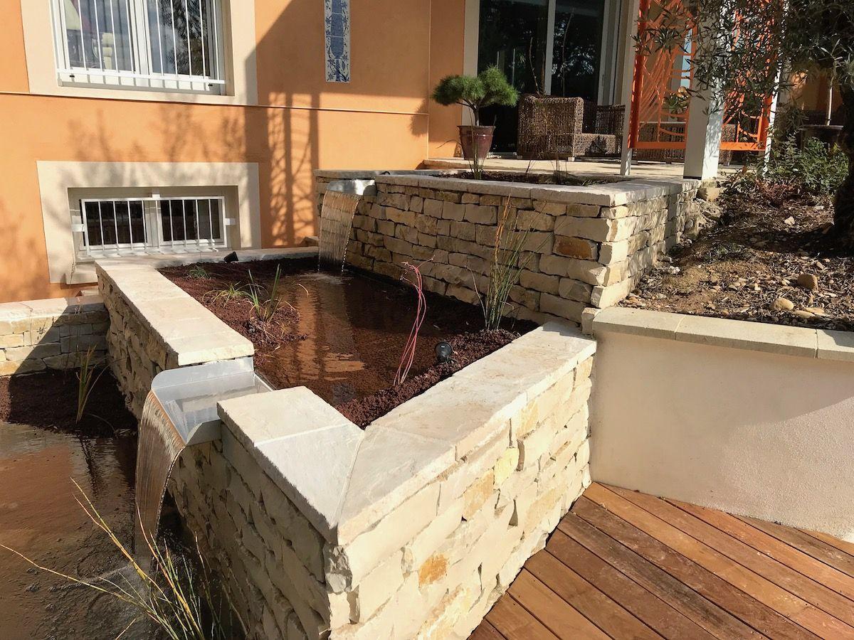 bassin en pierre sèche
