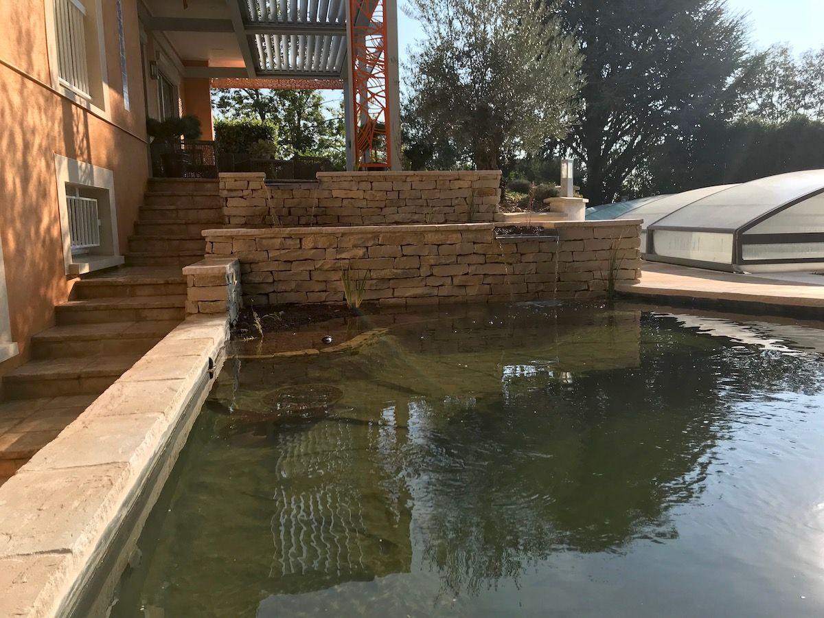 escalier et bassin à poissons en maçonnerie Ecully 69130