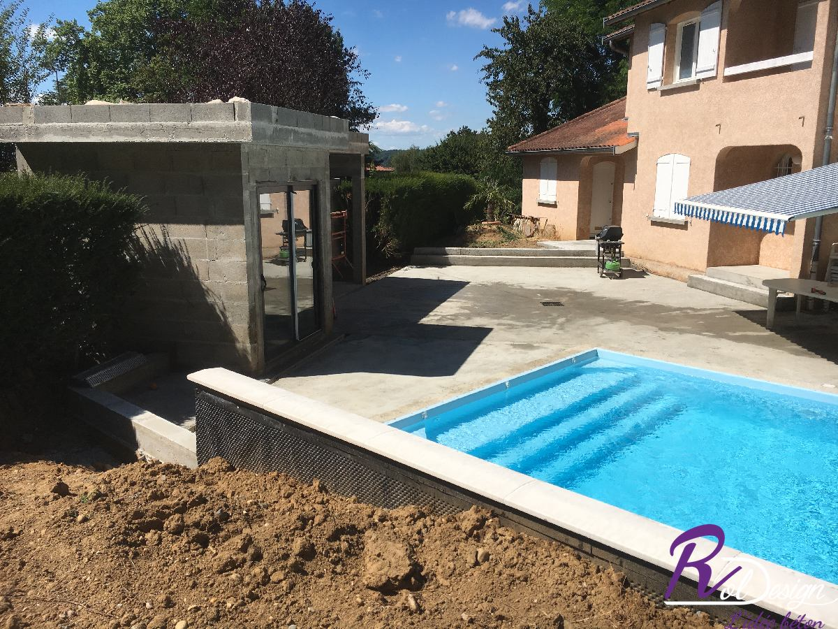 Maçonnerie ensemble piscine + pool house