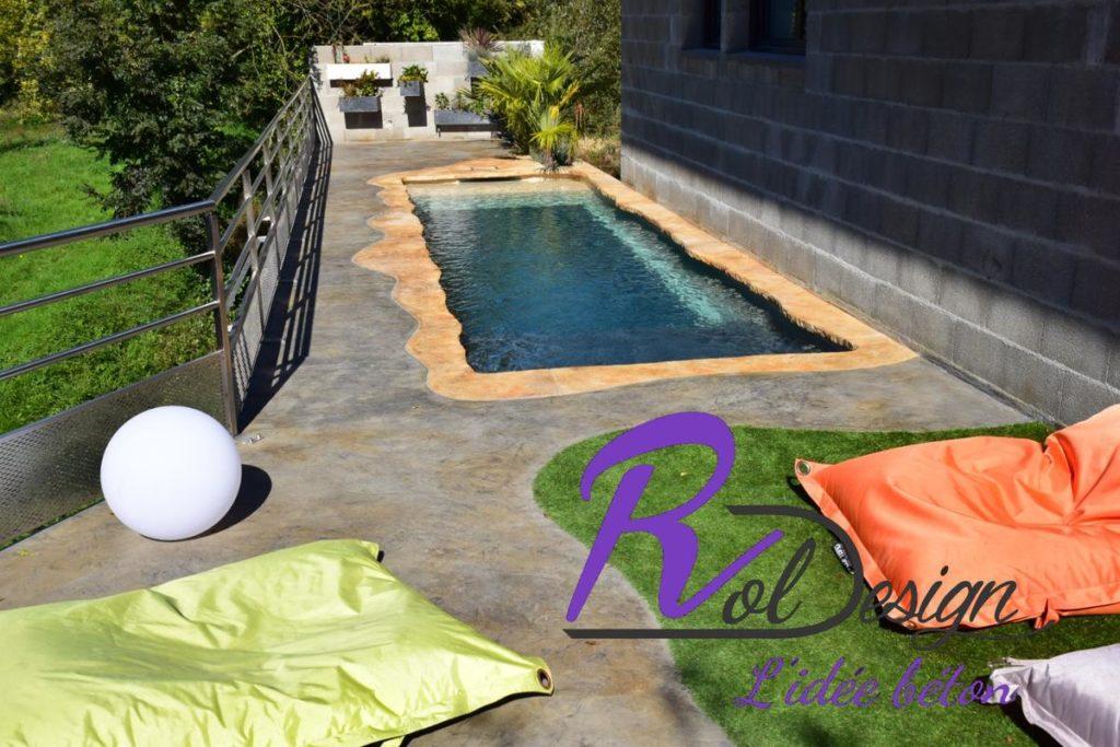 piscine moderne en pvc armé 3d design béton imprimé empreinte