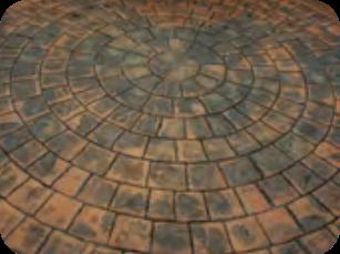 Pavés en cercles