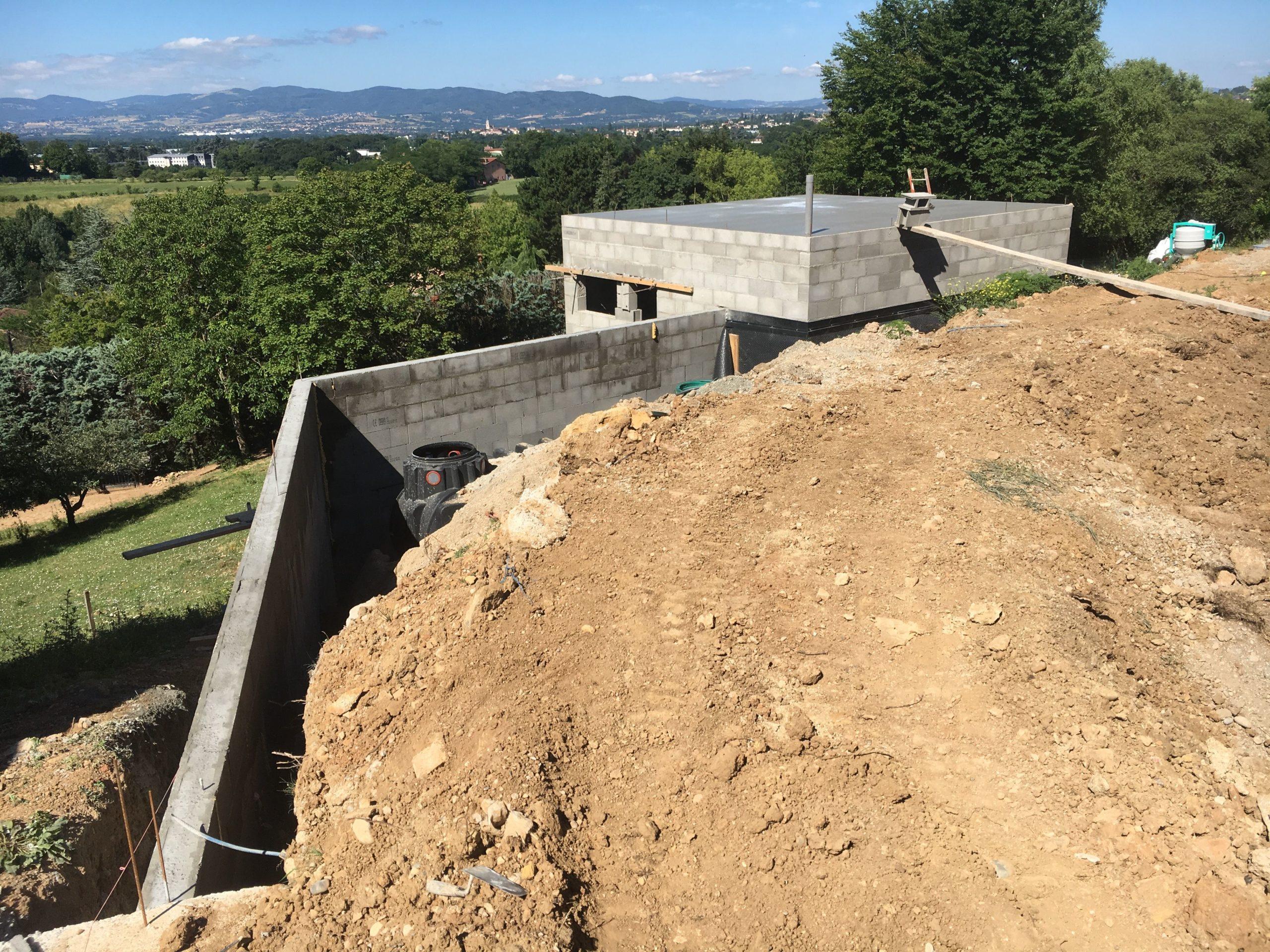 construction mur de soutènement