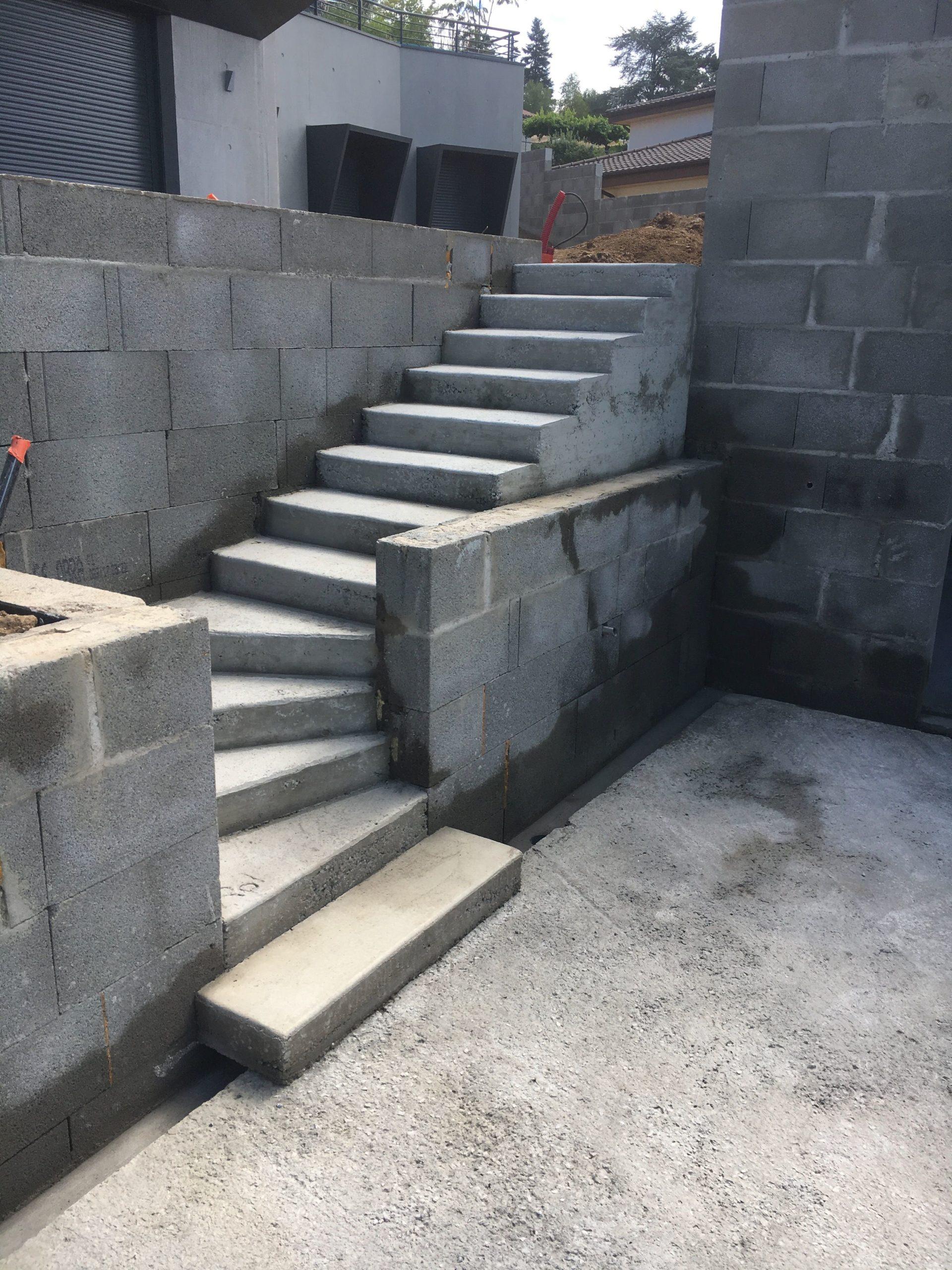 escalier en beton