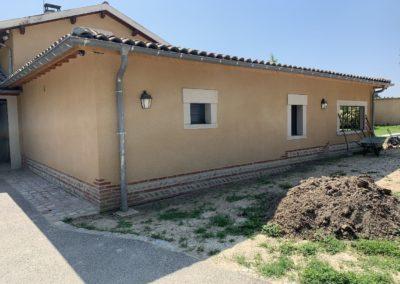 Extension de maison en maçonnerie sur Rancé dans l'Ain