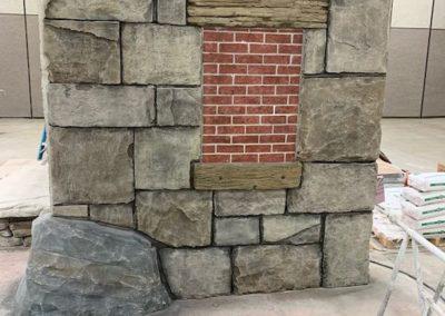 décor béton imitation pierres et bois