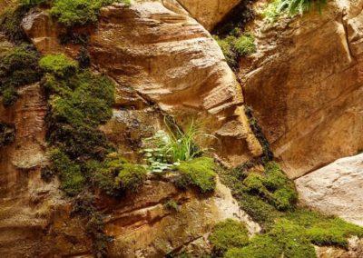 décor béton imitation roche