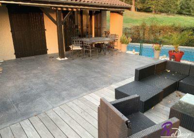 terrasse béton imprime Reyrieux Ain