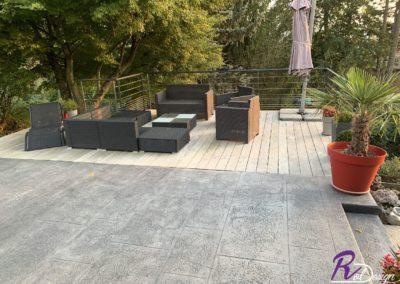 terrasse béton imprimé Reyrieux Ain